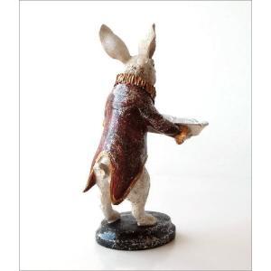 アクセサリートレイ うさぎ ウサギ 置物 置き物 雑貨 オブジェ 小物入れ アンティーク トレー レトロラビットの置物 トレイ gigiliving 05