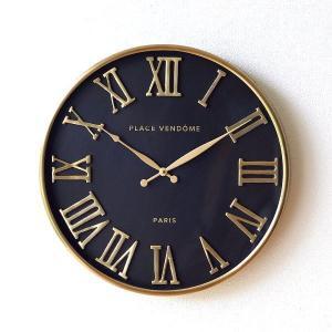 掛け時計 壁掛け時計 おしゃれ ゴールド ブラック エレガント クラシック 高級感 ローマ数字 大きい 大きめ 直径50cm ウォールクロック B&G|gigiliving