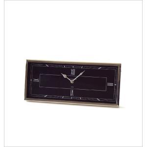 置き時計 おしゃれ シルバー ブラック 横長 デザイン アナログ クラシック エレガント 高級感 レクトテーブルクロック|gigiliving|05
