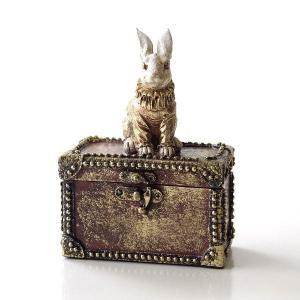 小物入れ ボックス ケース うさぎ 雑貨 かわいい おしゃれ レトロ アンティーク アクセサリー入れ 収納 バロックラビットボックス|gigiliving