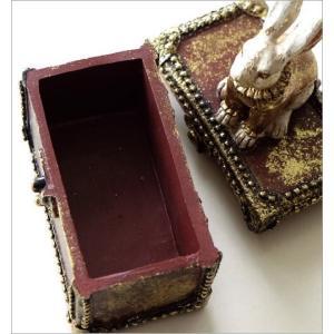 小物入れ ボックス ケース うさぎ 雑貨 かわいい おしゃれ レトロ アンティーク アクセサリー入れ 収納 バロックラビットボックス|gigiliving|05