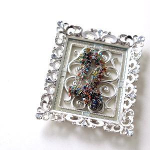 アクセサリートレイ おしゃれ かわいい ガラス エレガント キラキラ 小さい リリーミニトレイ|gigiliving