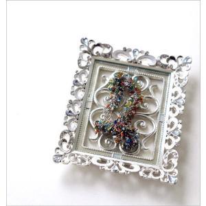 アクセサリートレイ おしゃれ かわいい ガラス エレガント キラキラ 小さい リリーミニトレイ|gigiliving|02