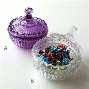 ガラスキャニスター 小物入れ おしゃれ キャンディ アクセサリー入れ ガラスのラウンドキャニスター 2カラー|gigiliving