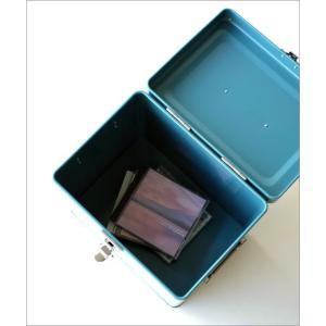 小物入れ ふた付き ボックス おしゃれ スチール缶 深い 整理収納 小物収納 お片付け ツールボックス 工具入れ 道具箱 スチールロングボックス2カラー|gigiliving|06