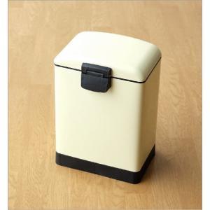 ペダルビン 6L ゴミ箱 ペダル式 ふた付き 小さい コンパクト おしゃれ かわいい スクエアペダルビンS IV gigiliving 05