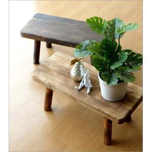 花台 フラワースタンド 木製 おしゃれ ナチュラル 天然木 桐 花置き テーブル ベンチ デザイン 観葉植物 鉢スタンド 鉢置き台 ウッドスクエアスタンドL 2カラー|gigiliving|02