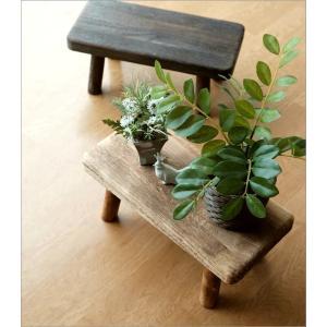 花台 フラワースタンド 木製 おしゃれ ナチュラル 天然木 桐 花置き テーブル ベンチ デザイン 観葉植物 鉢スタンド 鉢置き台 ウッドスクエアスタンドS 2カラー|gigiliving|02