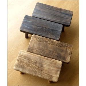 花台 フラワースタンド 木製 おしゃれ ナチュラル 天然木 桐 花置き テーブル ベンチ デザイン 観葉植物 鉢スタンド 鉢置き台 ウッドスクエアスタンドS 2カラー|gigiliving|06