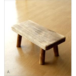 花台 フラワースタンド 木製 おしゃれ ナチュラル 天然木 桐 花置き テーブル ベンチ デザイン 観葉植物 鉢スタンド 鉢置き台 ウッドスクエアスタンドS 2カラー|gigiliving|07
