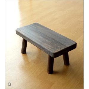 花台 フラワースタンド 木製 おしゃれ ナチュラル 天然木 桐 花置き テーブル ベンチ デザイン 観葉植物 鉢スタンド 鉢置き台 ウッドスクエアスタンドS 2カラー|gigiliving|08