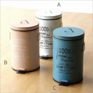 ゴミ箱 ふた付き ペダル式 おしゃれ かわいい コンパクト 小さい ミニ シンプル リビング 洗面所 トイレ キッチン シャビー風ペダルビン 3カラー|gigiliving