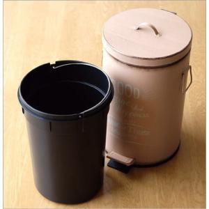 ゴミ箱 ふた付き ペダル式 おしゃれ かわいい コンパクト 小さい ミニ シンプル リビング 洗面所 トイレ キッチン シャビー風ペダルビン 3カラー|gigiliving|04
