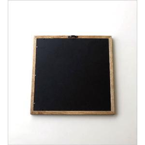 鏡 壁掛けミラー おしゃれ ウォールミラー 木製 天然木 四角 正方形 シンプル ナチュラル レトロなウッドフレームミラー gigiliving 04