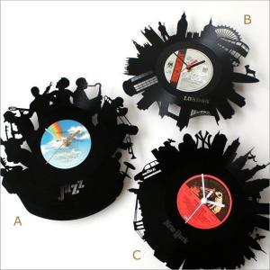 壁掛け時計 掛け時計 掛時計 壁掛時計 おしゃれ かっこいい ユニーク ウォールクロック アメリカン レコード盤の掛け時計 3タイプ|gigiliving