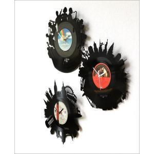 壁掛け時計 掛け時計 掛時計 壁掛時計 おしゃれ かっこいい ユニーク ウォールクロック アメリカン レコード盤の掛け時計 3タイプ|gigiliving|03
