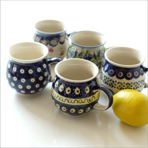 ポーランド食器 マグカップ おしゃれ ポーランド陶器のマグB 5タイプ|gigiliving