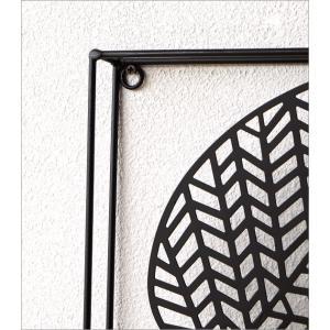 アートパネル 壁飾り アイアン モノトーン おしゃれ 植物 自然 壁掛け インテリア 壁面 装飾 飾り ウォールパネル アイアンの壁飾り シルエットフラワーC|gigiliving|03