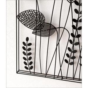 アートパネル 壁飾り アイアン モノトーン おしゃれ 植物 自然 壁掛け インテリア 壁面 装飾 飾り ウォールパネル アイアンの壁飾り シルエットフラワーC|gigiliving|04