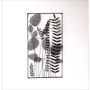 アートパネル 壁飾り アイアン モノトーン おしゃれ 植物 自然 壁掛け インテリア 壁面 装飾 飾り ウォールパネル アイアンの壁飾り シルエットフラワーC|gigiliving|05