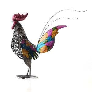鶏 置物 ブリキ かわいい おしゃれ にわとり インテリア 可愛い カラフル スタイリッシュ モダン ブリキのオブジェ ニワトリB|gigiliving