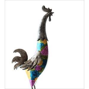鶏 置物 ブリキ かわいい おしゃれ にわとり インテリア 可愛い カラフル スタイリッシュ モダン ブリキのオブジェ ニワトリA gigiliving 02