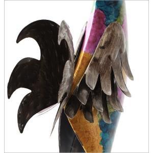 鶏 置物 ブリキ かわいい おしゃれ にわとり インテリア 可愛い カラフル スタイリッシュ モダン ブリキのオブジェ ニワトリA gigiliving 04