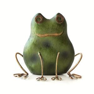 カエル 置物 ブリキ かわいい かえる 雑貨 インテリア おしゃれ 可愛い レトロ アンティーク アジアン ブリキのオブジェ カエルB|gigiliving