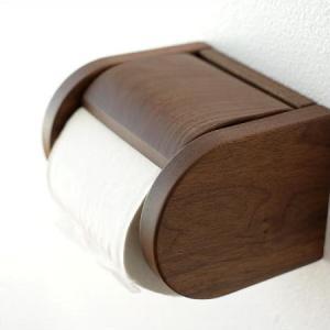 トイレットペーパーホルダー 木製 おしゃれ ワンタッチ式 シンプル ナチュラル 和風 日本製 ウッドペーパーホルダー D|gigiliving