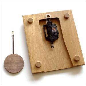 振り子時計 壁掛け おしゃれ 木製 日本製 手作り 天然木 無垢材 ふくろう かわいい 木の振り子時計 スクエア|gigiliving|06
