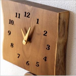 壁掛け時計 壁掛時計 掛け時計 掛時計 おしゃれ 振り子 木製 無垢材 天然木 ウッド ウォールクロック シンプル ナチュラル 和 和風 木の振り子時計 エンジュ|gigiliving|03