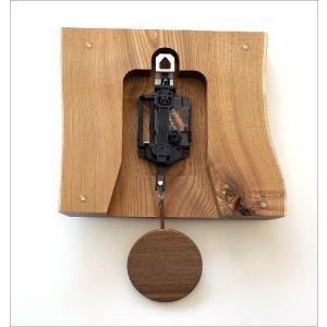 壁掛け時計 壁掛時計 掛け時計 掛時計 おしゃれ 振り子 木製 無垢材 天然木 ウッド ウォールクロック シンプル ナチュラル 和 和風 木の振り子時計 エンジュ|gigiliving|05
