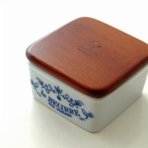 バターケース ハーフサイズ 磁器 木製 おしゃれ 可愛い ナチュラル 北欧 アンティーク 木の蓋 白 ホワイト 日本製 磁器のハーフサイズバターケース|gigiliving