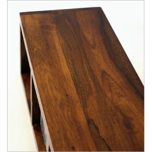CDラック おしゃれ 木製 天然木 無垢 スリム CD収納 CDボックス 卓上 机上 ナチュラル アジアン ディスプレイ インテリア 3段 仕切り インドのウッドCDラックS|gigiliving|04
