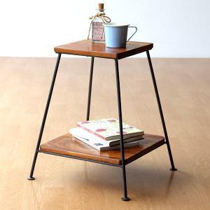 スツール 木製 おしゃれ シンプル 椅子 いす イス 花台 棚 シーシャムウッドアイアンスツール|gigiliving