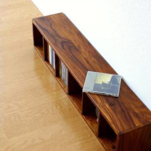 CDラック おしゃれ 木製 天然木 無垢 スリム CD収納 CDボックス 卓上 机上 ナチュラル アジアン ディスプレイ インテリア 6段 仕切り インドのウッドCDラック|gigiliving
