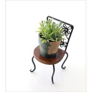 置物 オブジェ 小さな椅子 木製 アイアンミニチェアー B|gigiliving|02