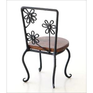 置物 オブジェ 小さな椅子 木製 アイアンミニチェアー B|gigiliving|03