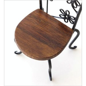 置物 オブジェ 小さな椅子 木製 アイアンミニチェアー B|gigiliving|05