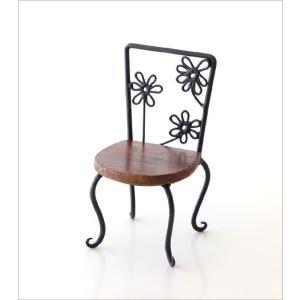 置物 オブジェ 小さな椅子 木製 アイアンミニチェアー B|gigiliving|06