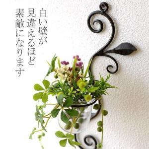 花瓶 花びん ガラス アイアン 花器 一輪挿し おしゃれ 壁飾り インテリア雑貨 壁掛けフラワーベース・ミニ|gigiliving