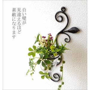 花瓶 花びん ガラス アイアン 花器 一輪挿し おしゃれ 壁飾り インテリア雑貨 壁掛けフラワーベース・ミニ|gigiliving|02