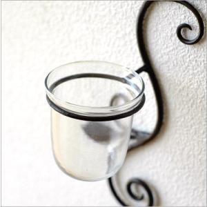 花瓶 花びん ガラス アイアン 花器 一輪挿し おしゃれ 壁飾り インテリア雑貨 壁掛けフラワーベース・ミニ|gigiliving|03