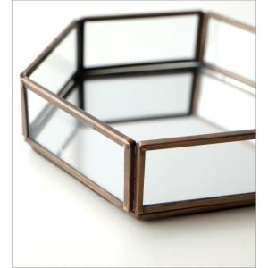 トレー トレイ 小物入れ おしゃれ アクセサリートレイ 小物置き 鏡 真鍮 六角形 卓上 小物 ディスプレイ シンプル アンティーク 六角ミラートレー|gigiliving|04