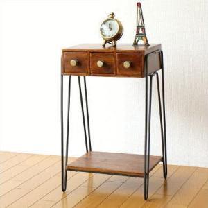 サイドテーブル おしゃれ 木製 電話台 シーシャム3つ引き出しサイドテーブル|gigiliving