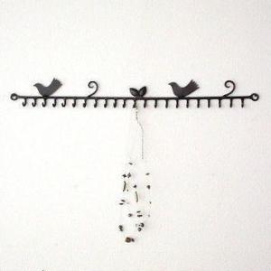 フック 壁掛け アイアン 鳥 雑貨 おしゃれ かわいい キーフック ウォールフック アンティーク レトロ アクセサリーフック 小鳥の壁掛けアクセサリーホルダー|gigiliving