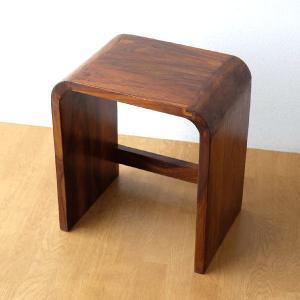 スツール 木製 おしゃれ 椅子 アジアン チェア ウッドカーブネストスツール L|gigiliving