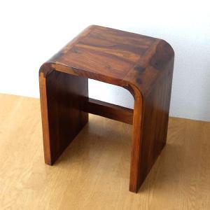 スツール 木製 おしゃれ 椅子 アジアン チェア ウッドカーブネストスツール M|gigiliving