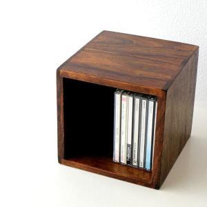 CDラック おしゃれ 木製 無垢 CD収納 アジアン シーシャムウッドCDボックス|gigiliving