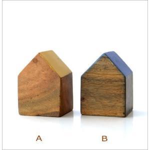木製 オブジェ 置物 おしゃれ かわいい 小物 おうち 家 インテリア ウッドハウスブロック 4カラー|gigiliving|03